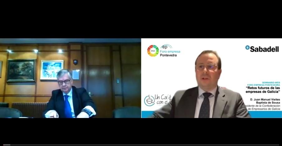 9 Seminario Web con con Juan Manuel Vieites. «Retos futuros de las empresas de Galicia»